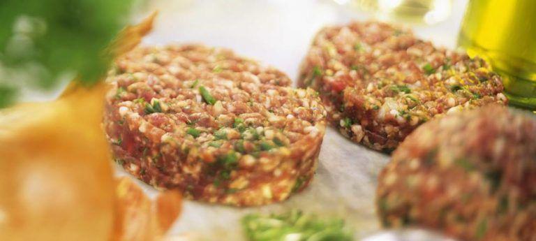 como preparar carne picada para hamburguesas