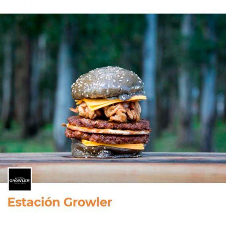 original hamburguesa americana con pan color negro