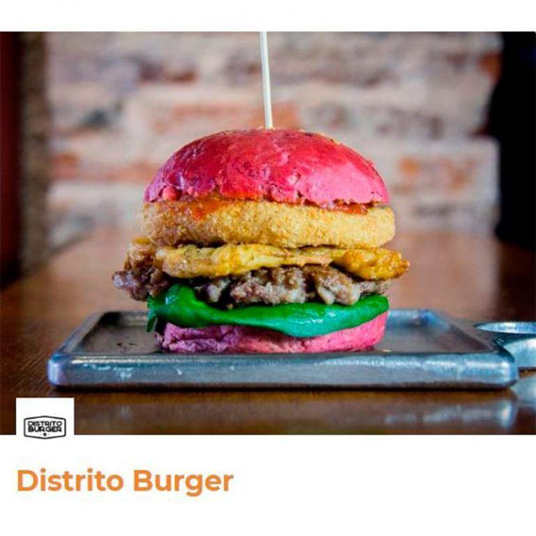 hamburguesa alemana original con pan rosa