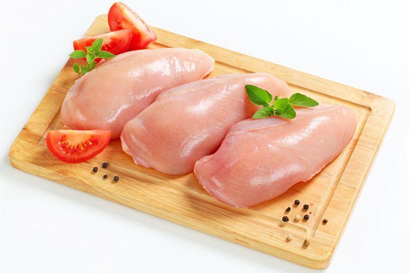 Despiece de carne de pollo.