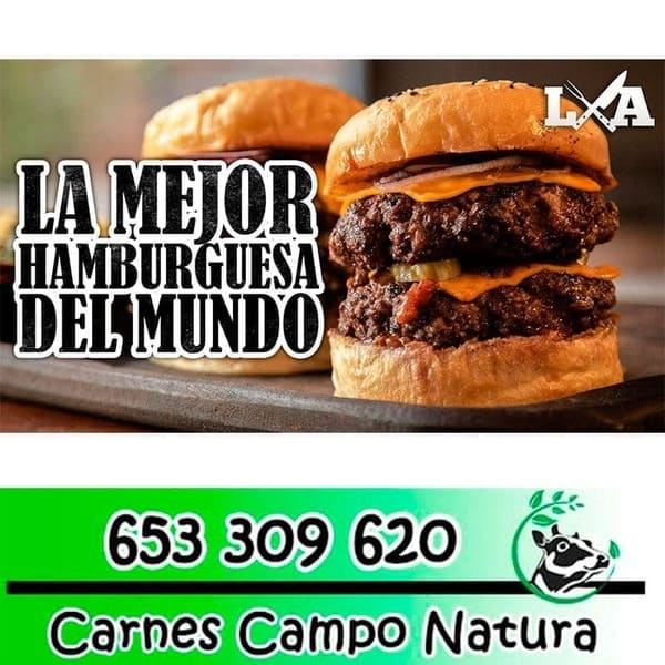 hamburguesa carne campo natura