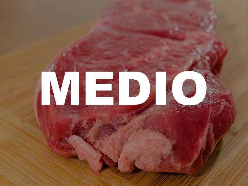 Carne de sabor de mediana intensidad