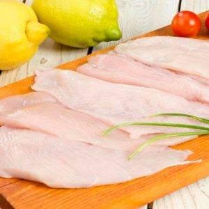 Filetes de pechuga de pollo.