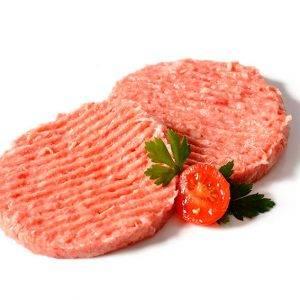 Hamburguesa mixta de cerdo y ternera.