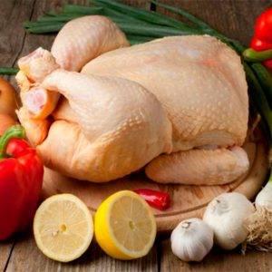 Comprare pollo de corral fresco.