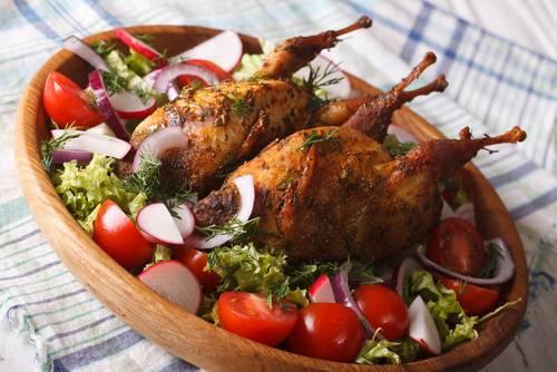 receta carne de codorniz