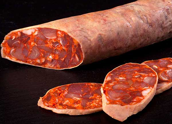 Chorizo ibérico de nuestros lotes de chacina Ibérica