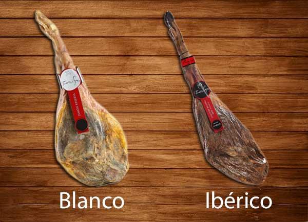 Diferencias entre jamón ibérico y blanco