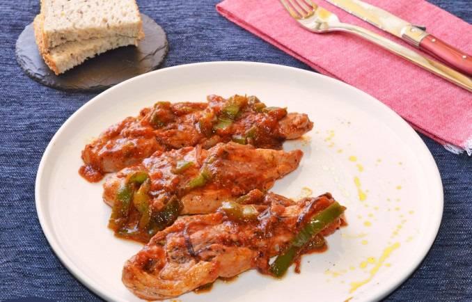 chuleta de pavo en salsa de tomate
