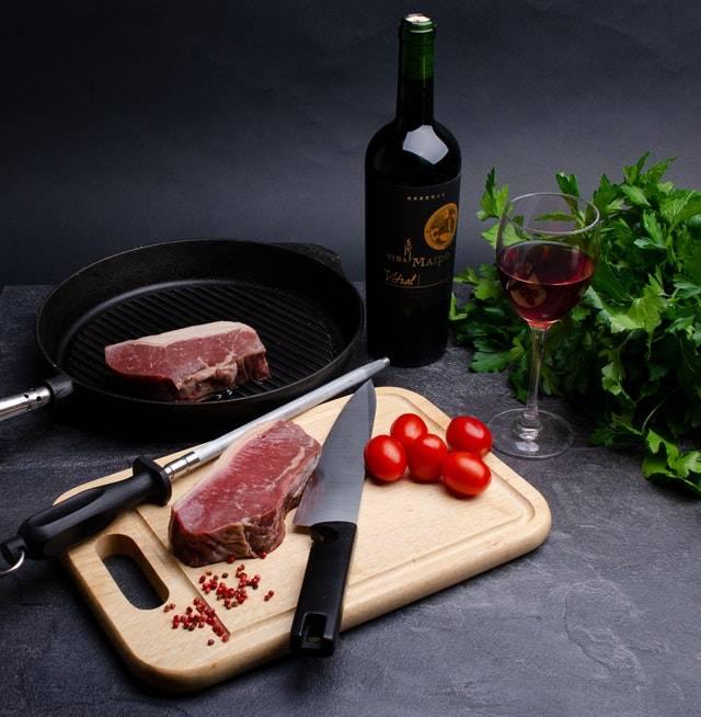 sartén para carne